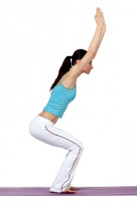 lady practicing yoga exercise position